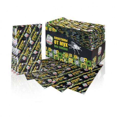 Пластины от МУХ без запаха 10 шт HELP. инсектицидные, дисплей-бокс /200/50