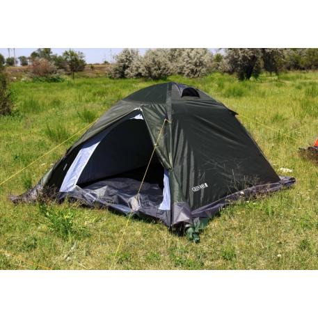 """Палатка 2 мест.""""Алаколь"""" мат190Т,PU2000 мм зеленая"""