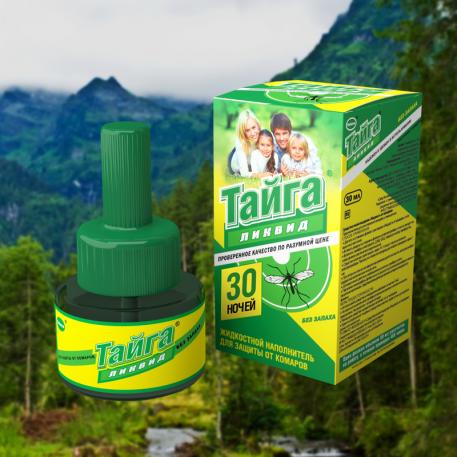 ТАЙГА ликвид. жидкостной наполнитель от комаров 30 ночей