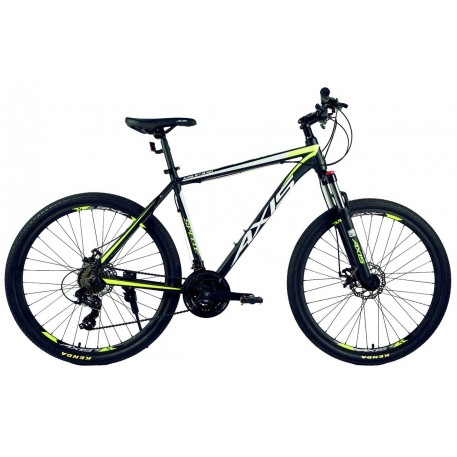 "Велосипед AXIS 27.5 MD Алюм. MTB-мех. торм.21ск. matt black green 20"""