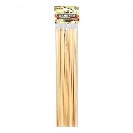 Шампуры бамбуковые 0,3х30 см 50 штук в упаковке /200/ 25