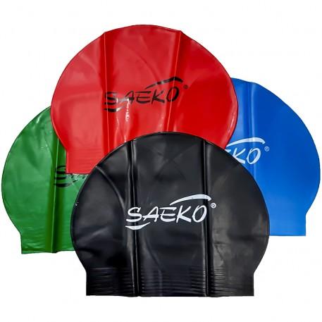Шапочка для плавания C2 OPP из латекса черная Saeko