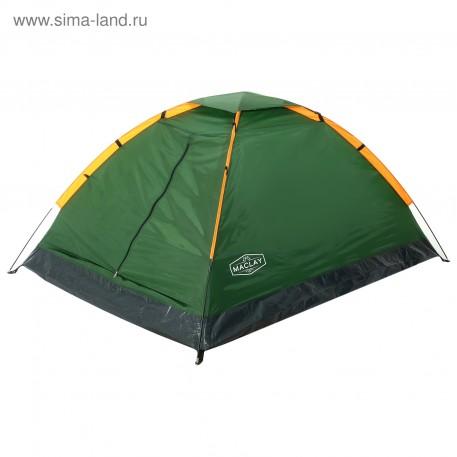 Палатка туристическая SANDE 205х150х105 см, 2-х местная, цвет зеленый      4570803