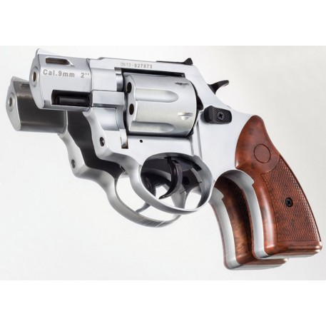Револьвер газовый ZORAKI Мод. R2-2-T MATTE CHROME (к.-бр: 9мм)(6-зарядн.)
