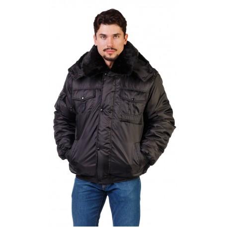 Куртка зимняя (смесовая ткань) иск. мех р.60-62