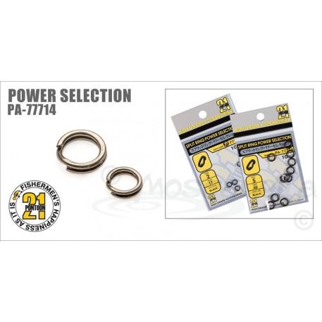 Кольцо заводное Pontoon21 Power Selection, кованное цв. черный, #2, 10 шт. уп.