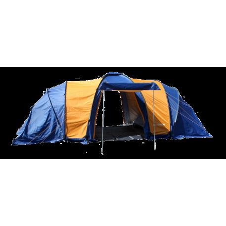 Палатка 8мест. Бурабай мат 190Т,РU2000мм,син/оранж