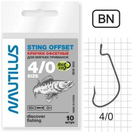 Крючок Nautilus Sting Offset SSW1005 № 4/0