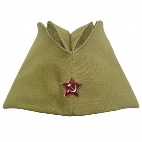 Пилотка армейская со звездой СССР олива р.54