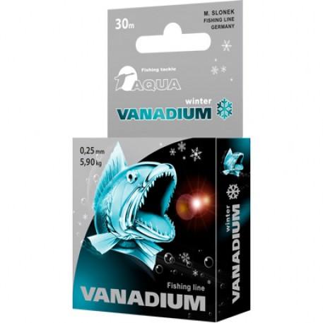 Леска зимняя AQUA VANADIUM 0,18mm 30m
