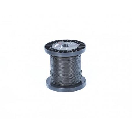 Линь САРГАН черный нейлон D 2,0 мм, за 1 метр (катушка 100 м)
