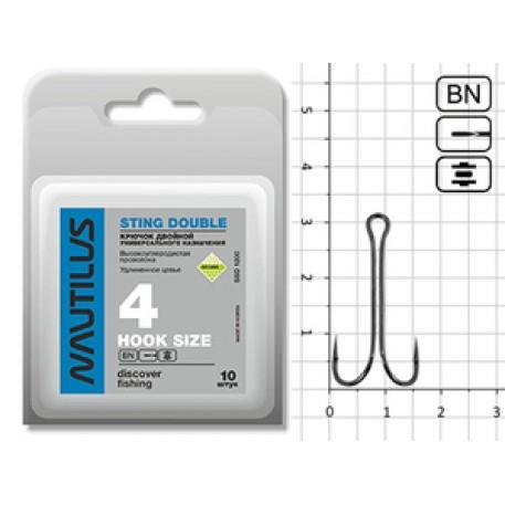 Крючок Nautilus Sting Double SSD1200 № 4 (50pcs)