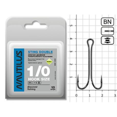 Крючок Nautilus Sting Double SSD1200 № 1/0 (50pcs)