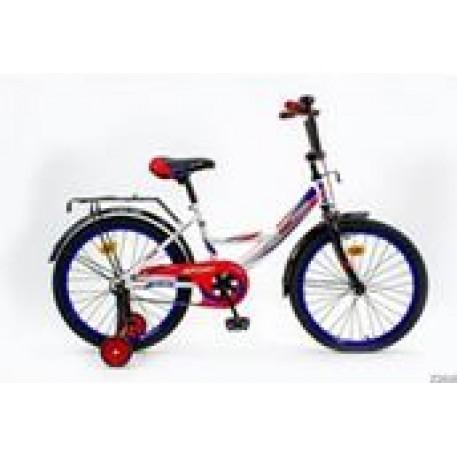 Велосипед детский Max Pro Sport разм 20 (2-х кол.вел.,2бок страх колеса,мет. рама,багаж-к,крылья,зв)