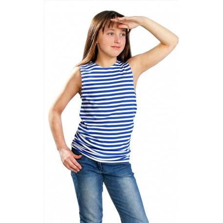 Майка-тельняшка голубая ВДВ 40-42 (подростковая)