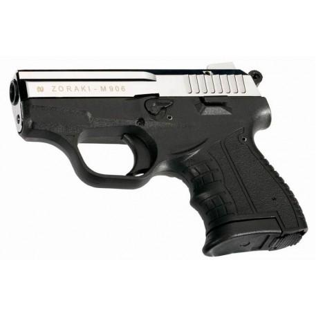 Пистолет газовый ZORAKI Мод. M906 SHINY CHROME (к.-бр: 9мм P.A.)(6-зарядн.)